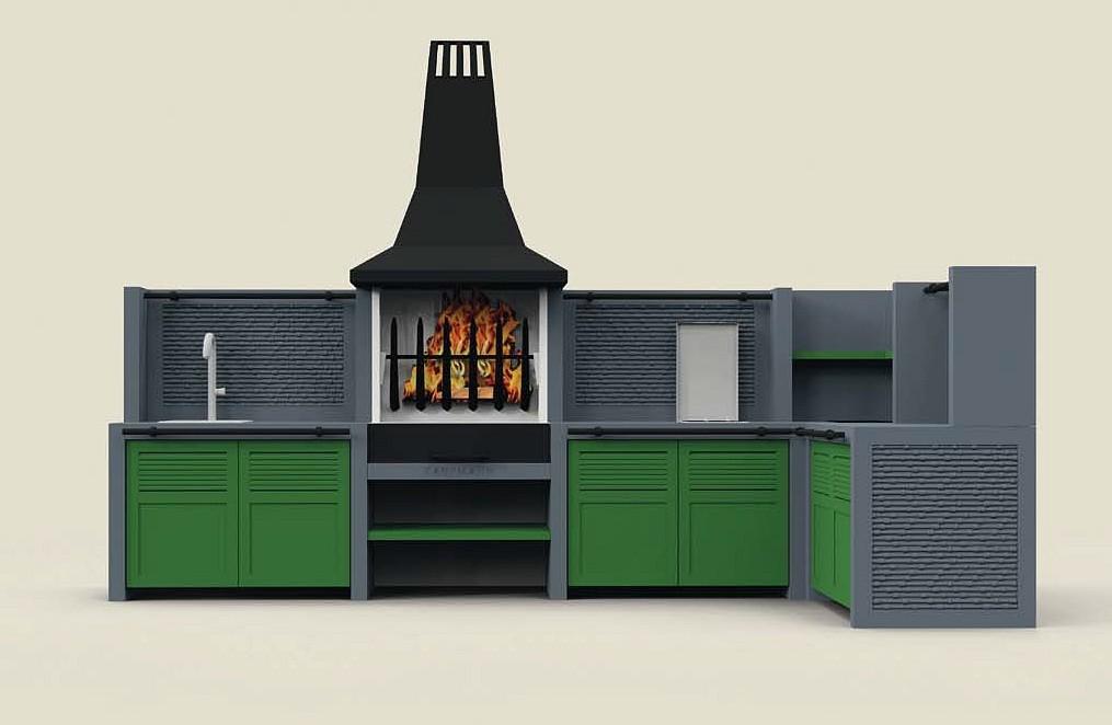 Outdoor Küchen Geräte : Garten grill küche t bonerust kaminbau